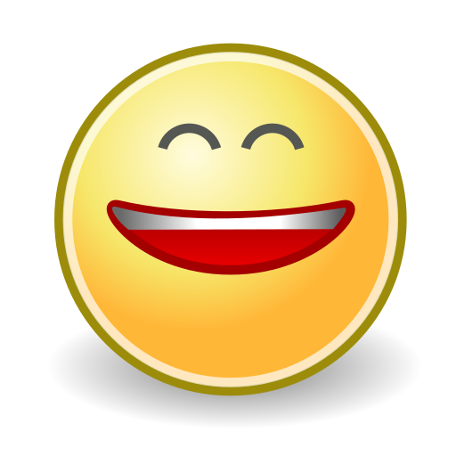 big, face, smile icon