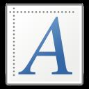 font, generic icon
