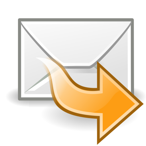forward, mail icon