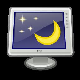 desktop, preferences, screensaver icon