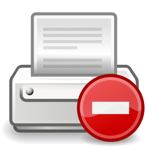 error, printer icon