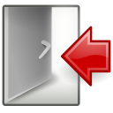 log, out, system icon