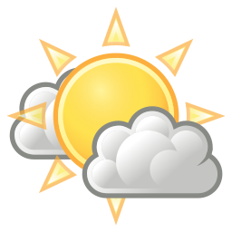 clouds, few, weather icon