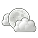clouds, few, night, weather icon