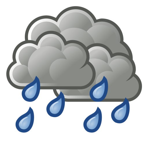 scattered, showers, weather icon