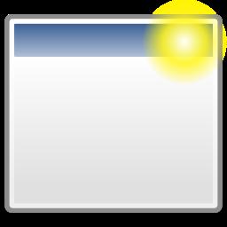 new, window icon