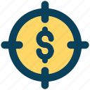 target, money, profit, finance, investment