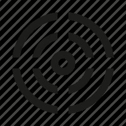 circle, mark, target, triple icon