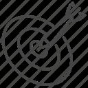 achievement, aim, dart, dartboard, focus, goal, target icon