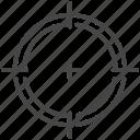 aim, crosshair, focus, goal, target, archery, bullseye icon
