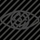 aim, eye, focus, goal, target, bullseye, vision icon