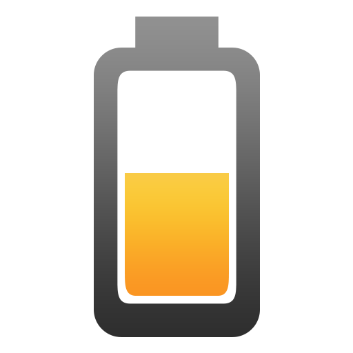 battery, discharging, half icon