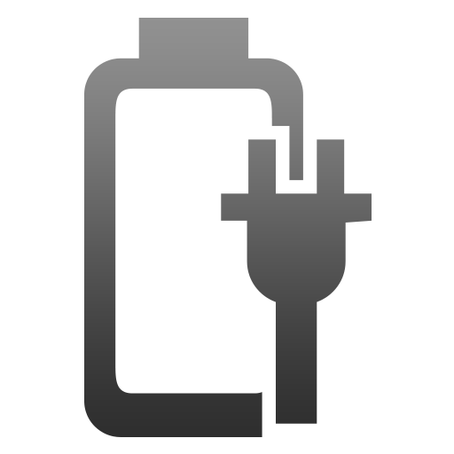 battery, nocharge, plugged icon