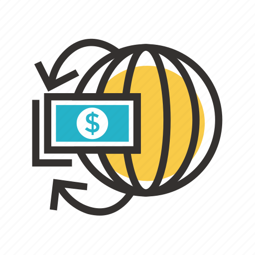 business, economy, finance, globe, payment, tax icon