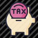 bank, piggy, tax, taxes, finance
