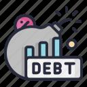 bomb, debt, tax, taxes, percentage