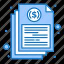 bill, document, file, financial, report