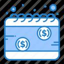 calendar, money, payday, schedule, tax