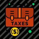 accounting, bag, baggage, briefcase, case icon