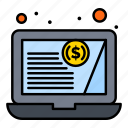 finances, financial, statement, customer icon