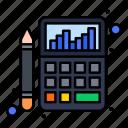 accounting, budget, calculator, chart, finance icon