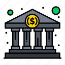 bank, buy, cash, government, home icon