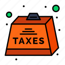 charge, duties, heavy, payable, tax icon
