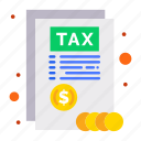 document, report, tax icon