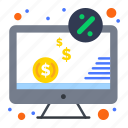 computer, dollar, money, monitor, screen