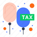 charge, duties, floating, payable, rate icon
