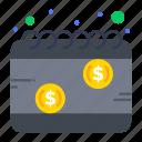 calendar, money, payday, schedule, tax icon