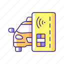 contactless payment, taxi service, purchase, payment