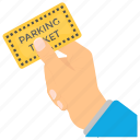 parking card, parking restrictions, parking ticket, parking violation, parking warnings icon