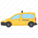 cab, car hire, taxi, taxicab, yellow cab icon