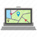 gps, gps device, gps receiver, navigation device, vehicle navigation icon