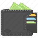 billfold, cash wallet, money, payment, pocketbook icon