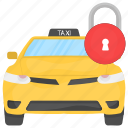 cab security, safe cab, safe taxi, taxicab security, vehicle tracking icon