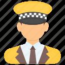 cab driver, cabman, chauffeur, chauffeur service, taxi driver icon