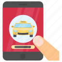 e-hailing application, hailing app, online taxi, ridesharing, taxi app icon