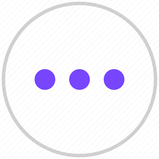 dots, more, others icon