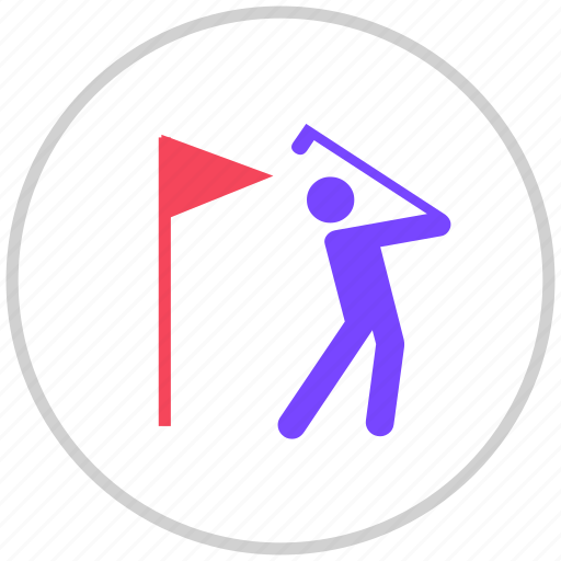 golf, sport, sports icon