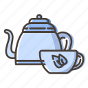 coffee, cup, tea, teapot icon