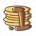 breakfast, dessert, food, puncake icon