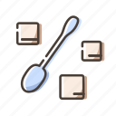 spoon, sugar, sweet, tea