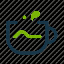 green tea, hot, matcha, tea icon