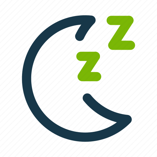 matcha, moon, night, sleep icon