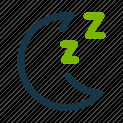 matcha, moon, night, sleep icon