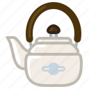 kettle, kitchen, tea, tea kettle, tea-pot, tearoom, yumminky icon