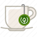 cup, drink, glass, tea, tea bag, tearoom, yumminky icon