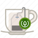brewing, cup, glass, tea, tea bag, tearoom, yumminky icon